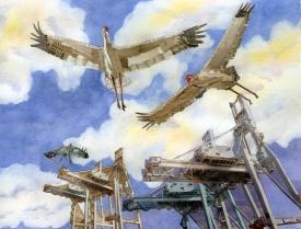 """7 Cranes"" SOLD"