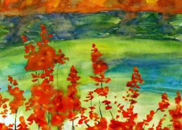 """""""Aflame"""" 8.5x11.5 $150"""
