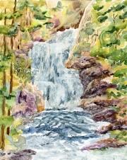 """""""Oregon Waterfall"""" 13x10 $150"""