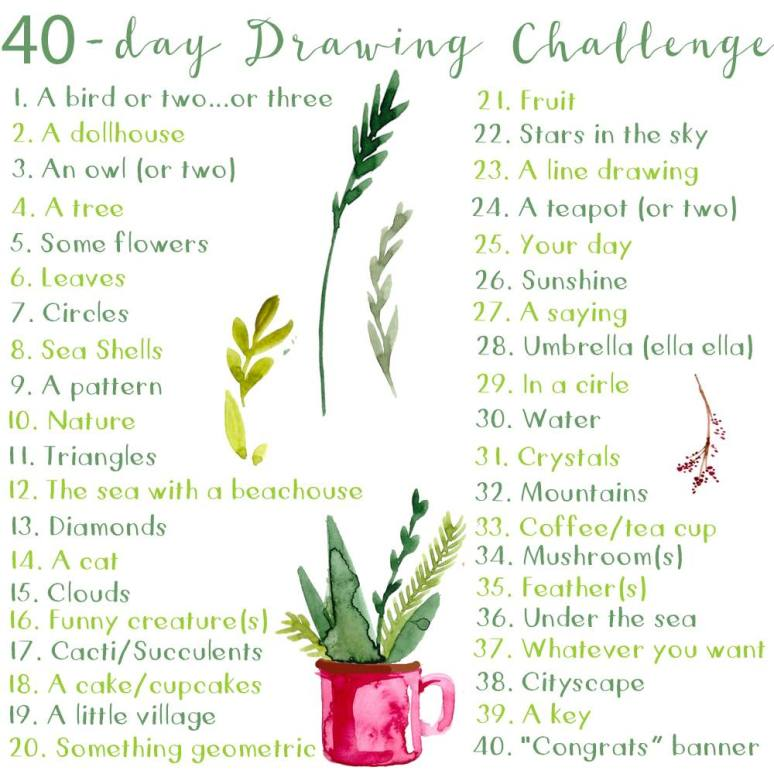 40day-drawing-prompts