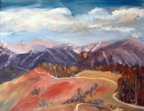 """Mount Howard Hike"" oil"