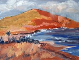 """Above Pebble Beach"" oil"
