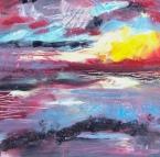 """""""Dawn"""" 6x6 oil $50"""