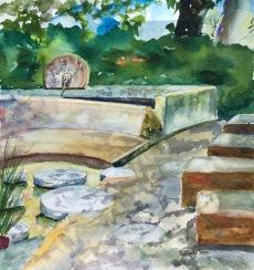 """""""Castallina Fountain"""" 10x7 $60"""