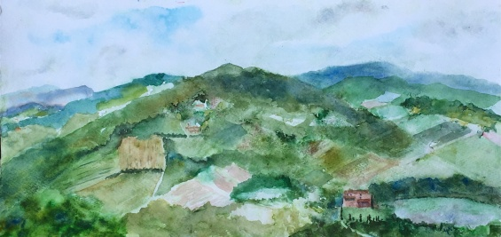 """View From Radda"" 10x17"